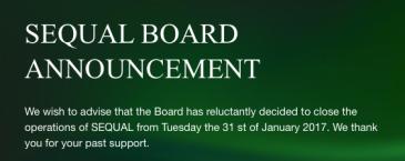 sequal_board-announces-closure